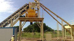 HZS35 Concrete Batching Plant in Nigeria